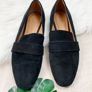 Caslon black suede flat loafers